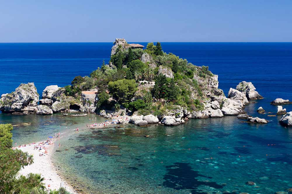 Boat excursion Taormina: from Isola Bella to Blue Cave with aperitif on board-image-4