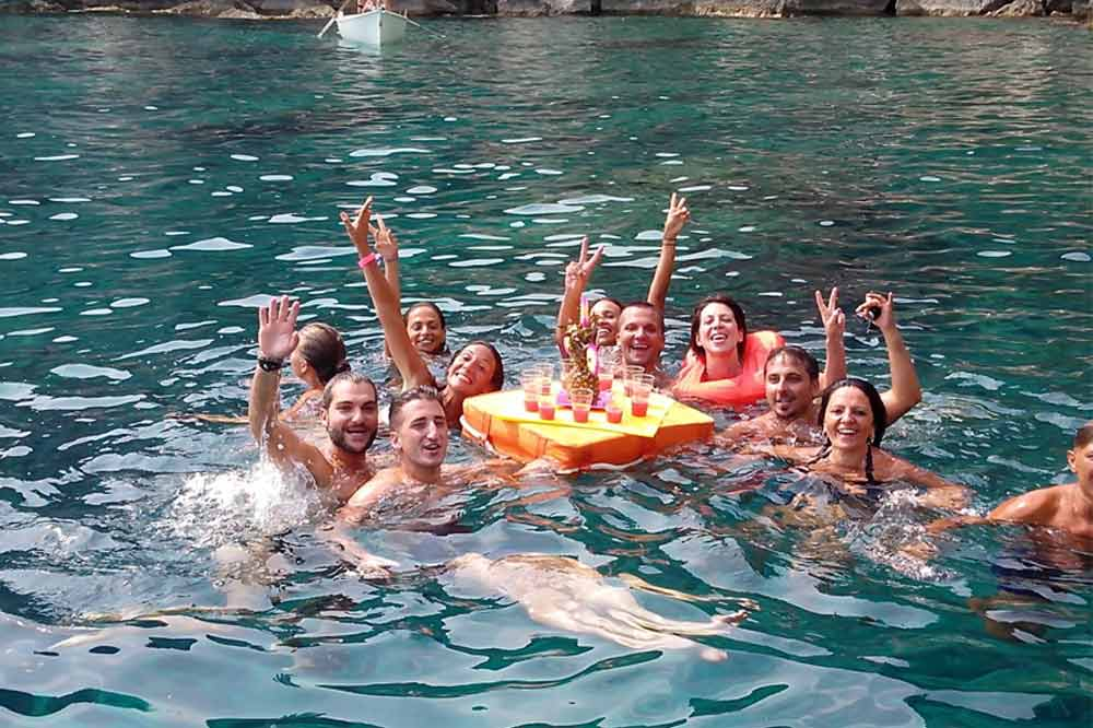 Boat excursion Taormina: from Isola Bella to Blue Cave with aperitif on board-image-7