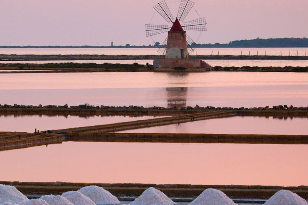 Visit to the salt pans of Marsala, tasting and harvesting of salt in the vicinity of Trapani-image-9